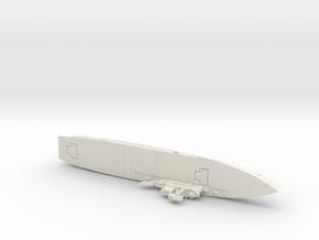 HMS Hermes 1/1800 in White Premium Versatile Plastic