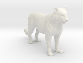 Printle Thing Tiger - 1/32 in White Natural Versatile Plastic