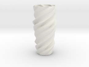 Vase ictor01 in White Natural Versatile Plastic
