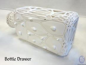 Bottle Drawer in White Natural Versatile Plastic