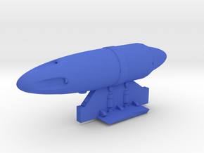 Gun_pod in Blue Processed Versatile Plastic