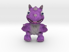 Purple Fur Dragon in Full Color Sandstone