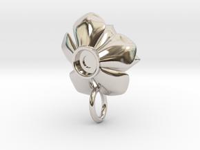 Rosette Succulent Pendant in Platinum