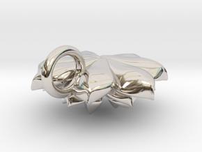 Succulent Pendant in Rhodium Plated Brass