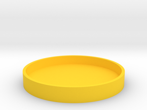 Okito Box Lid 2 Euro in Yellow Processed Versatile Plastic