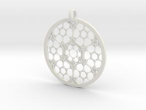 Mandala P Redux II in White Natural Versatile Plastic