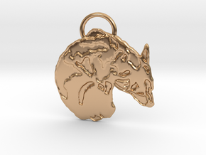 Corgi Croissant (with ring ) in Polished Bronze