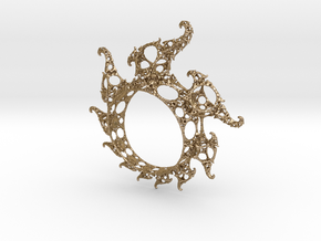 Klein Ring in Polished Gold Steel
