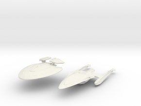 New York Class B   BattleCruiser  Separated in White Natural Versatile Plastic