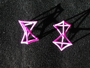 Changing Geometry Earrings in Purple Processed Versatile Plastic