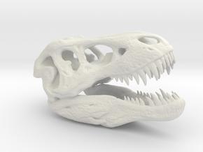 Tyrannosaurus Rex pendant 50mm in White Natural Versatile Plastic