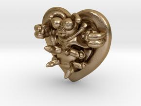 Lovebug Necklace Charm in Polished Gold Steel