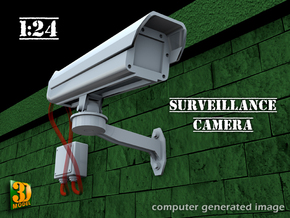 Surveillance Camera (type1 - 1/24) in Smooth Fine Detail Plastic