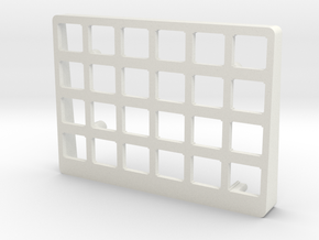 Let's Split Keyboard Case - Left top in White Natural Versatile Plastic