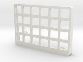 Let's Split Keyboard Case - Left top in White Natural Versatile Plastic