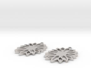 sunflower earrings in Platinum