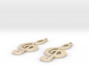 treble clef earrings in 14k Gold Plated Brass