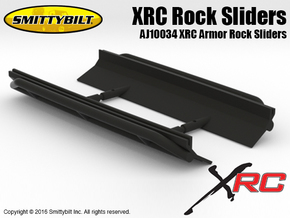AJ10034 Smittybilt XRC Armor Rock Sliders in Black Natural Versatile Plastic