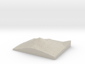 Model of Mount Bachelor Ski Area in Natural Sandstone
