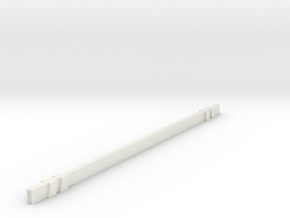 1/10 Road Barricade cross bar in White Natural Versatile Plastic