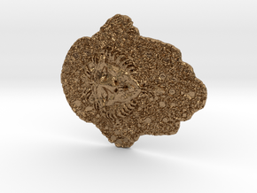 Cersei's Lion Fake Embroidery 3D print in Natural Brass