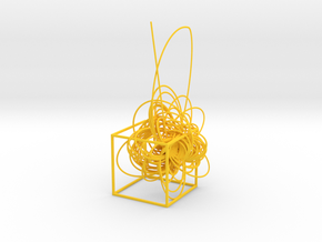 Cassini complete mission - cube in Yellow Processed Versatile Plastic