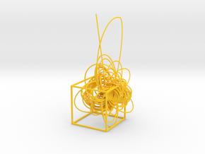 Cassini complete mission - cube in Yellow Processed Versatile Plastic