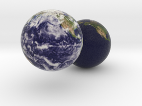 Two Earths in Full Color Sandstone