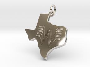 Whataburger Texas Pendant Charm 35mm in Rhodium Plated