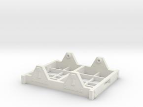 "On30 Railcar Underframe 1.5"" long Detailed in White Natural Versatile Plastic"