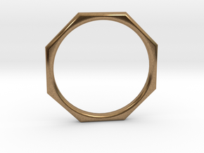 Octagon Pendant in Natural Brass