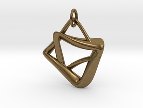 heptagram Knot in Natural Bronze (Interlocking Parts): Medium