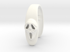 SCREAM #50 KEY FOB in White Processed Versatile Plastic