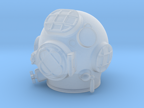 Miniature Diving Helmet in Smoothest Fine Detail Plastic