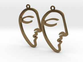 Picasso's Le Rêve (The Dream) Earrings in Natural Bronze