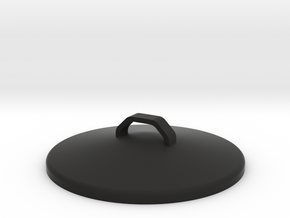 Desktop Trash Can Lid in Black Natural Versatile Plastic