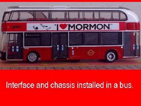 Interface for Tomytec chassis with New Routemaster in Black Natural Versatile Plastic