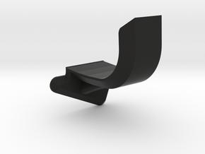Fin Brace Right Side in Black Premium Versatile Plastic