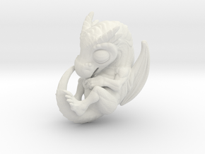 Dragon Baby Talisman in White Natural Versatile Plastic