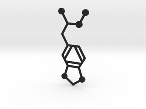 MDMA Molecule in Black Premium Versatile Plastic
