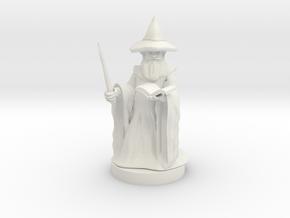 Gnome Wizard in White Natural Versatile Plastic