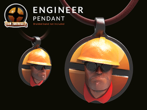 Team Fortress Engineer Pendant | Keychain in Coated Full Color Sandstone