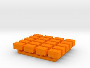 1/87 Scale Ham Radio GO-Box Chests in Orange Processed Versatile Plastic