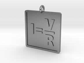 Ohm's Law Pendant in Natural Silver