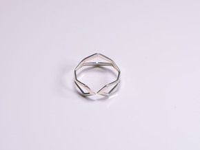 HIDDEN HEART Sharp, ring US size 10.5 , d=20,2mm in Polished Silver: 10.5 / 62.75