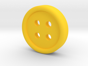 Rounded Sides Button in Yellow Processed Versatile Plastic