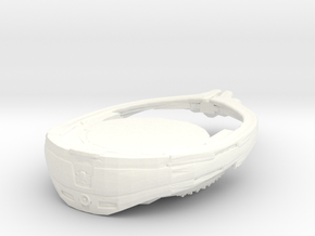 Stargate Ori Warship 1:7000 in White Processed Versatile Plastic