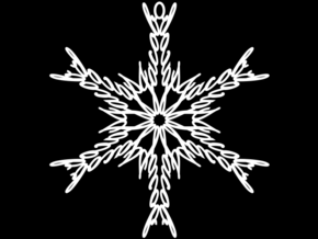 Jacob snowflake ornament in White Natural Versatile Plastic