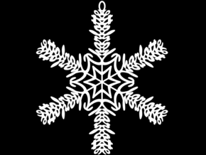 Charlotte snowflake ornament in White Natural Versatile Plastic
