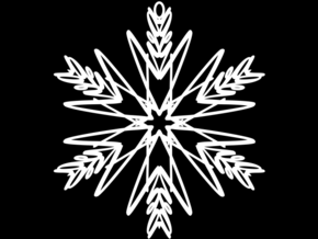 Ava snowflake ornament in White Natural Versatile Plastic